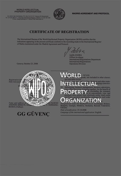Certificate Of Registration - Wipo
